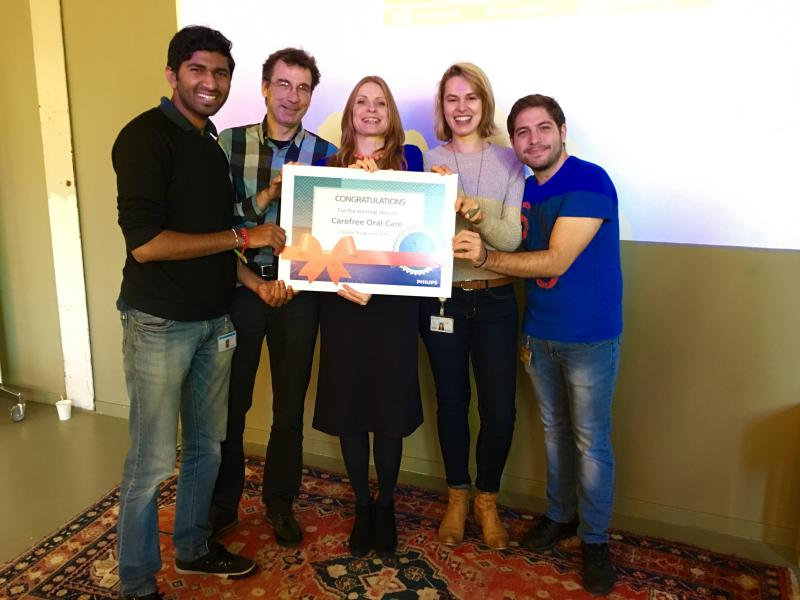 First Prize (Winning Idea) for Computer Science Intern Student (participating in a team) on Creative Playground 2016 Event, Philips High Tech Campus, Eindhoven, Holland
